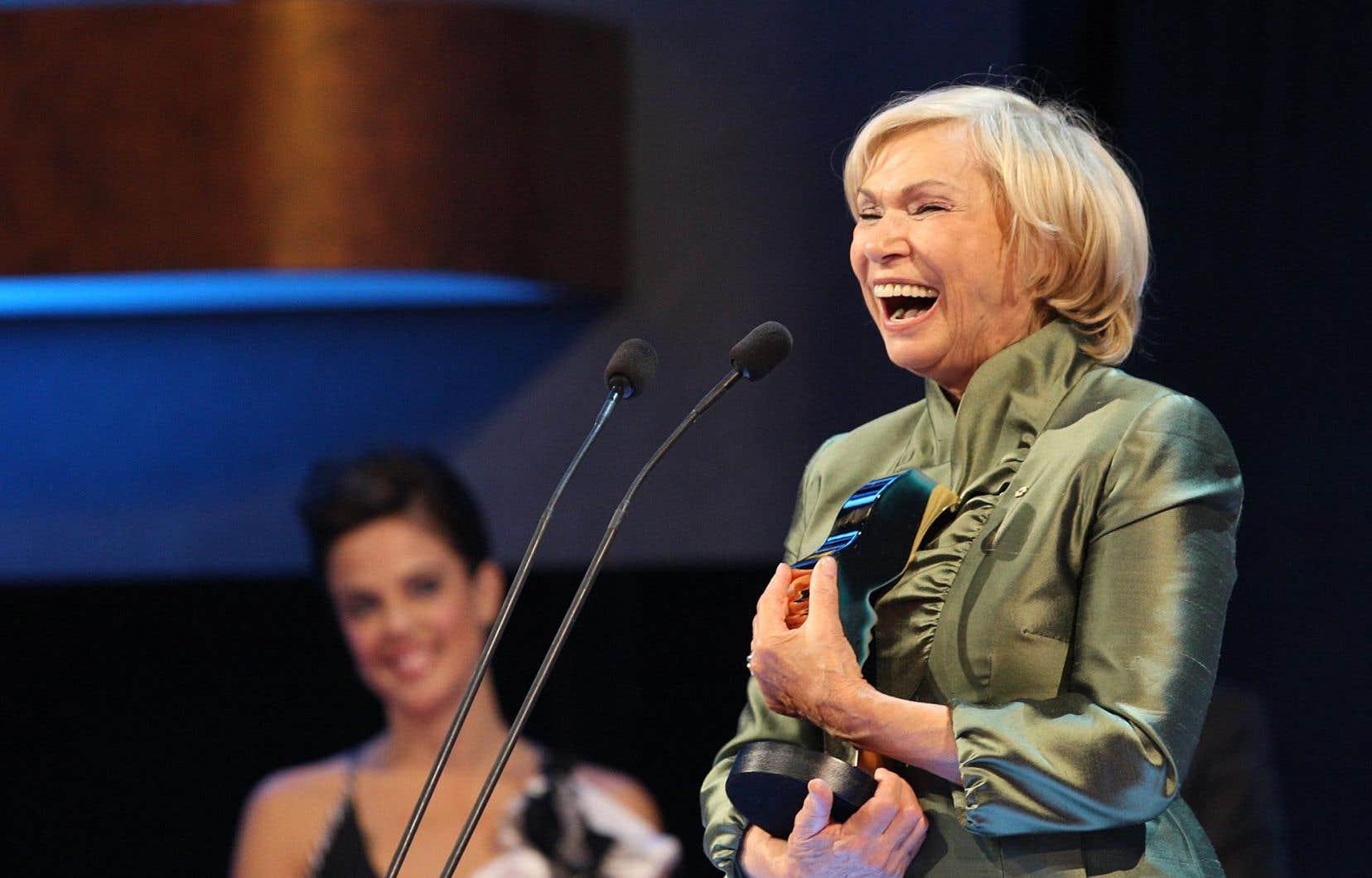 Monique Mercure a remportéle prix Gémeaux de la meilleure interprétation féminine en 2007 et en 2009 (photo).