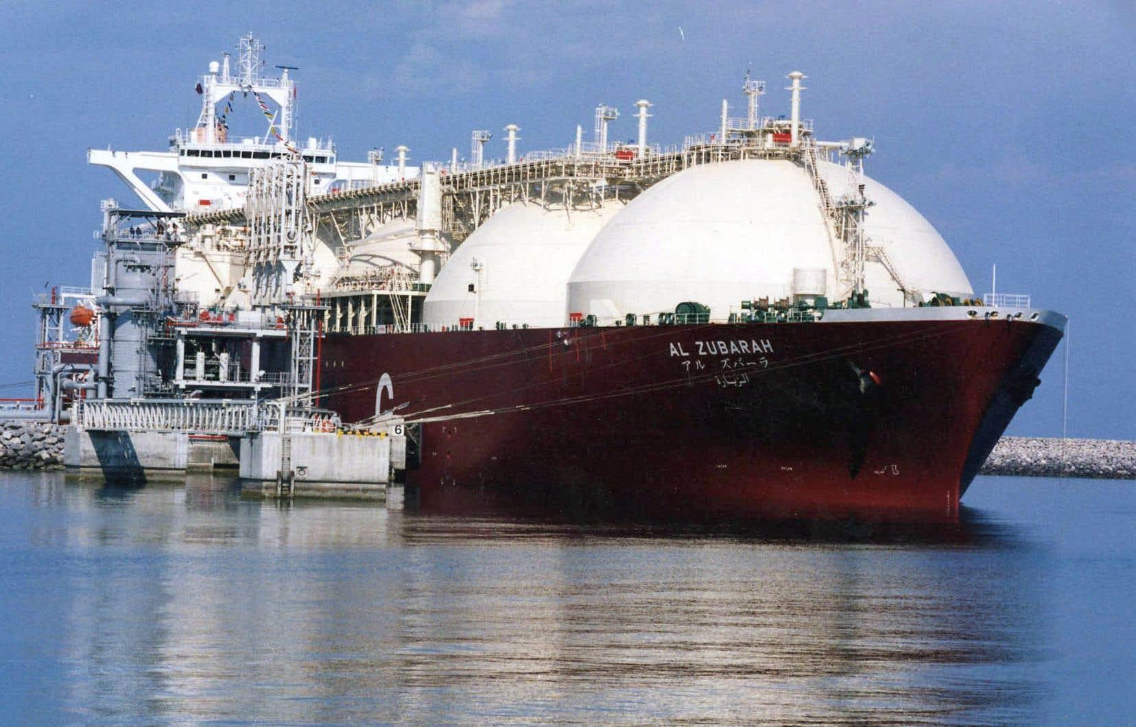 Au moins 160 méthaniers navigueraient chaque année sur le Saint-Laurent et le Saguenay pour exporter le gaz naturel liquéfié.