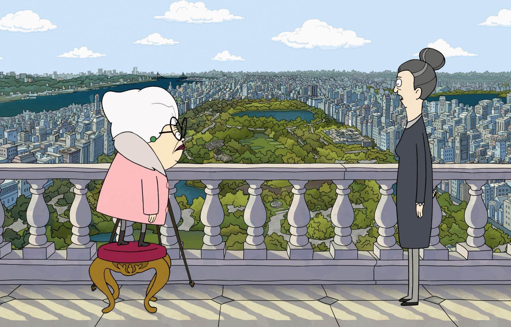 L'histoire de «Central Park» est plantée dans la Grosse Pomme, avec les immeubles de Manhattan en arrière-plan.