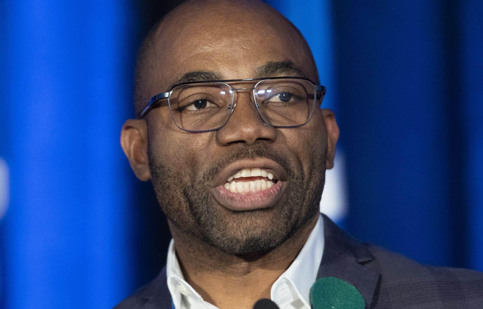 Le président du Parti québécois,Dieudonné Ella Oyono