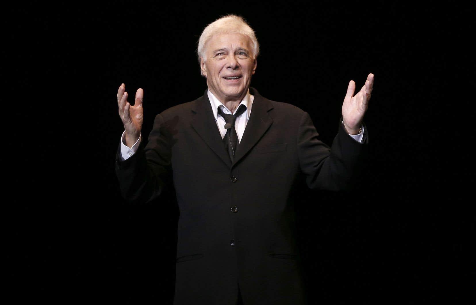 Guy Bedos, lors d'une de ses dernières prestations devant public, à l'Olympia de Paris en 2013