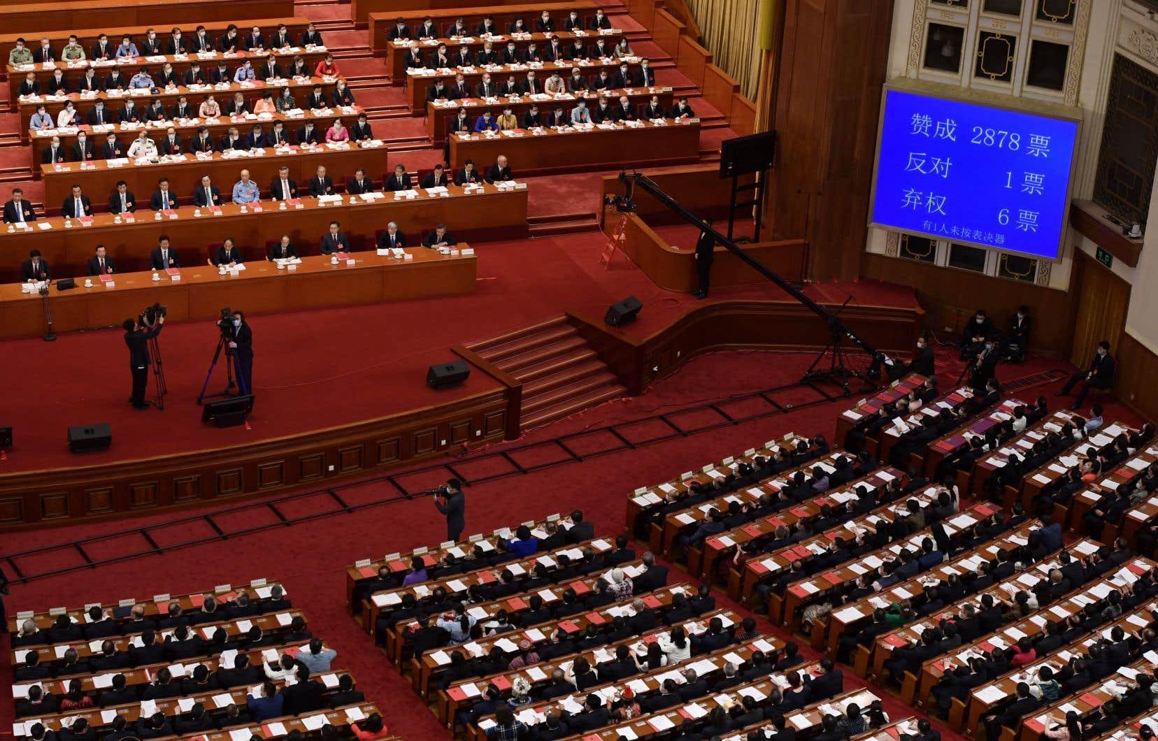 Le projet de loi sur la sécurité nationale à Hong Kong a reçu l'aval jeudi à Pékin du parlement national, totalement acquis au Parti communiste chinois.