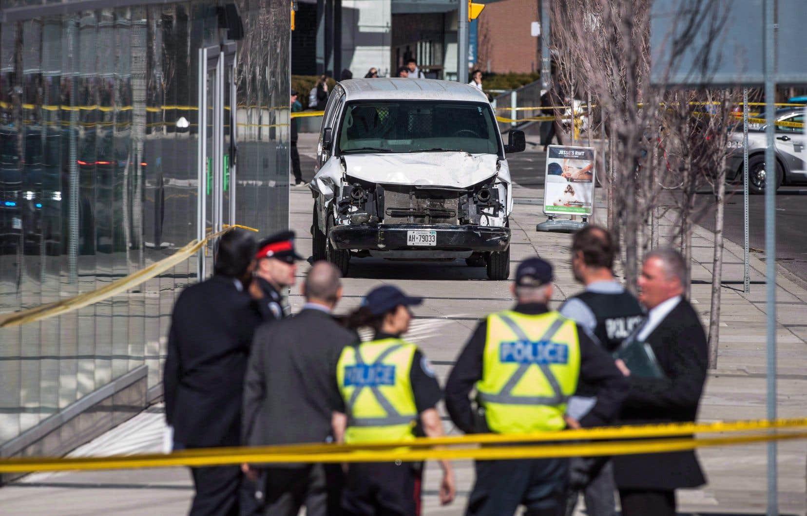 Le 23 avril 2018, Alek Minassian avait foncé sur des passants qui marchaient sur le trottoiravec une camionnette, faisant 10 morts et 16 blessés.