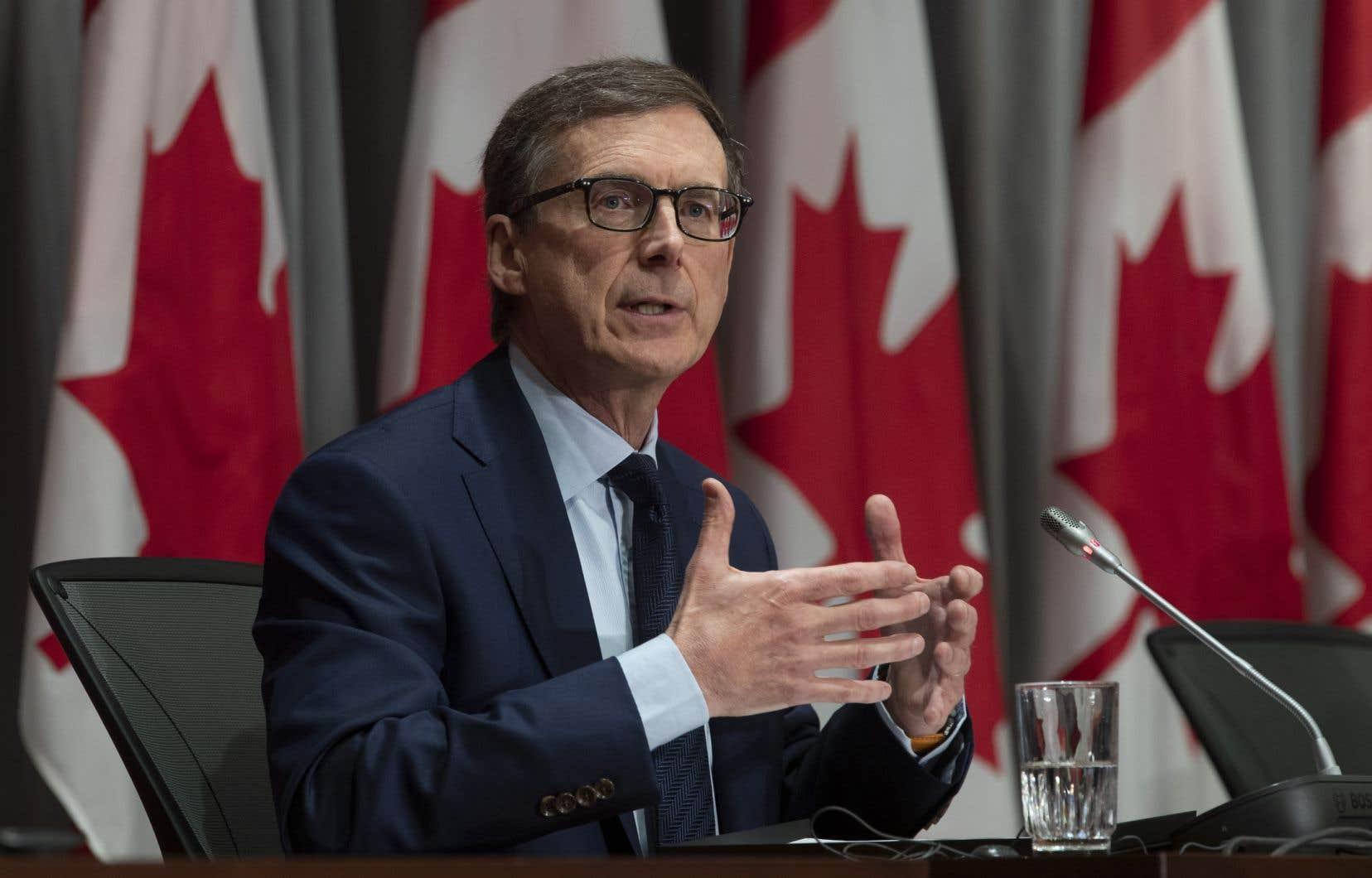 Le nouveau gouverneur de la Banque du Canada, Tiff Macklem, lors d'une allocution le 1er mai dernier