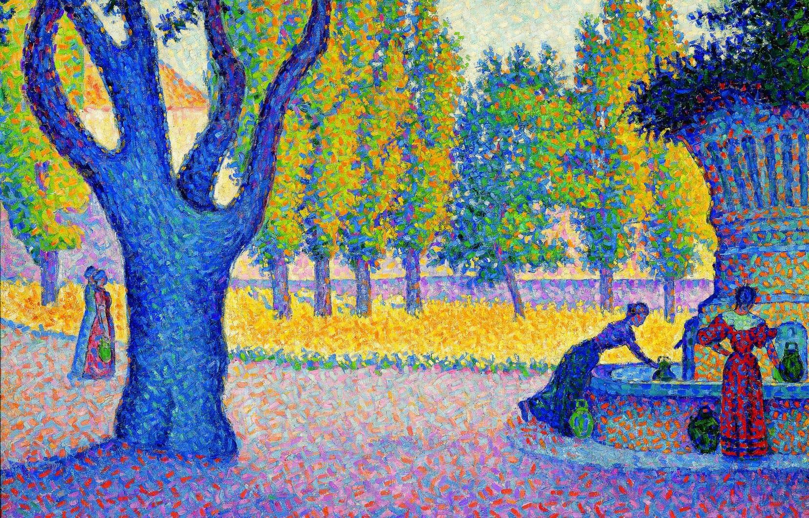 La toile de Paul Signac «Saint-Tropez. Fontaine des Lices» (1895, huile sur toile, collection particulière) fera partie de l'exposition «Paris au temps du postimpressionnisme».