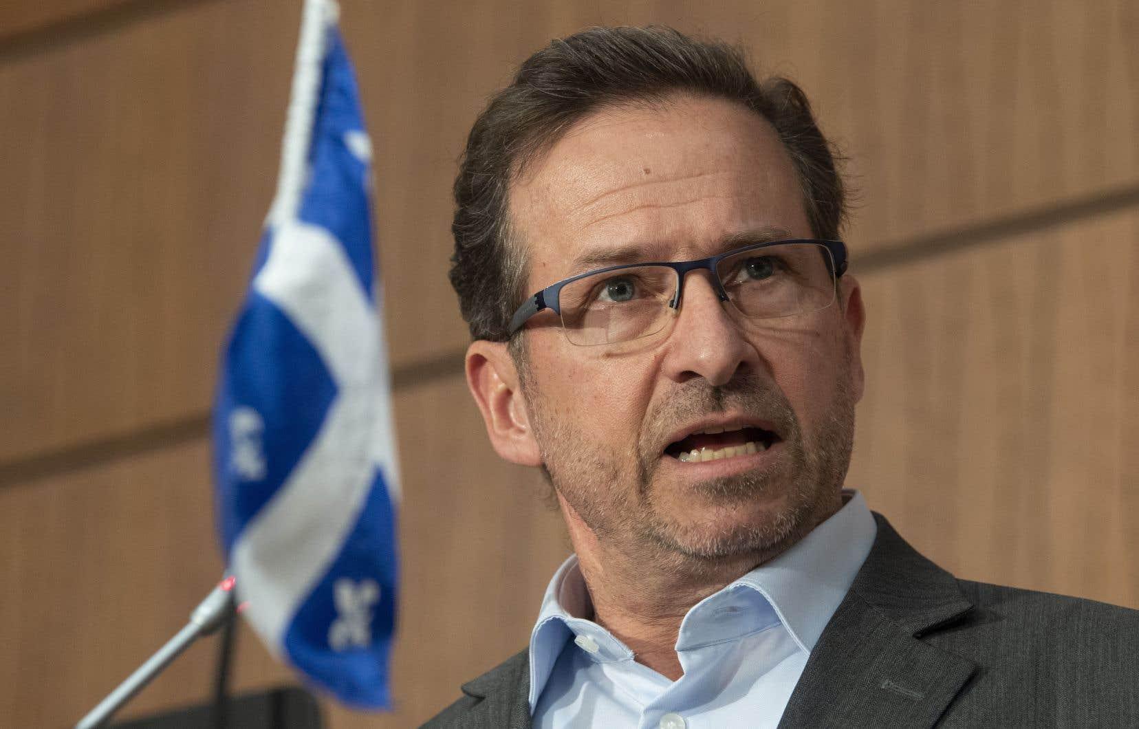 Le chef du Bloc québécois Yves-François Blanchet