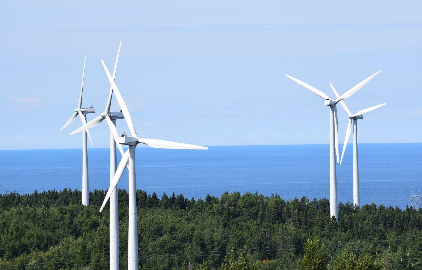 Un système d'éoliennes à Cap-Chat