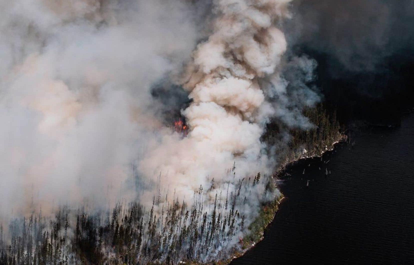 Le Québec est passé de 13 feux de forêt samedi à 20 incendies dimanche.