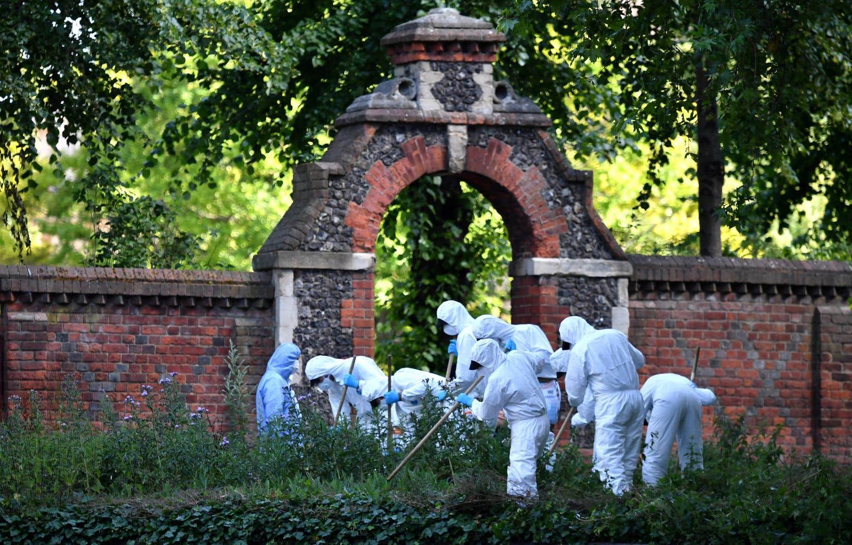 À Reading samedi, un homme seul a attaqué au couteau des groupes rassemblés dans un parc, faisant trois morts.