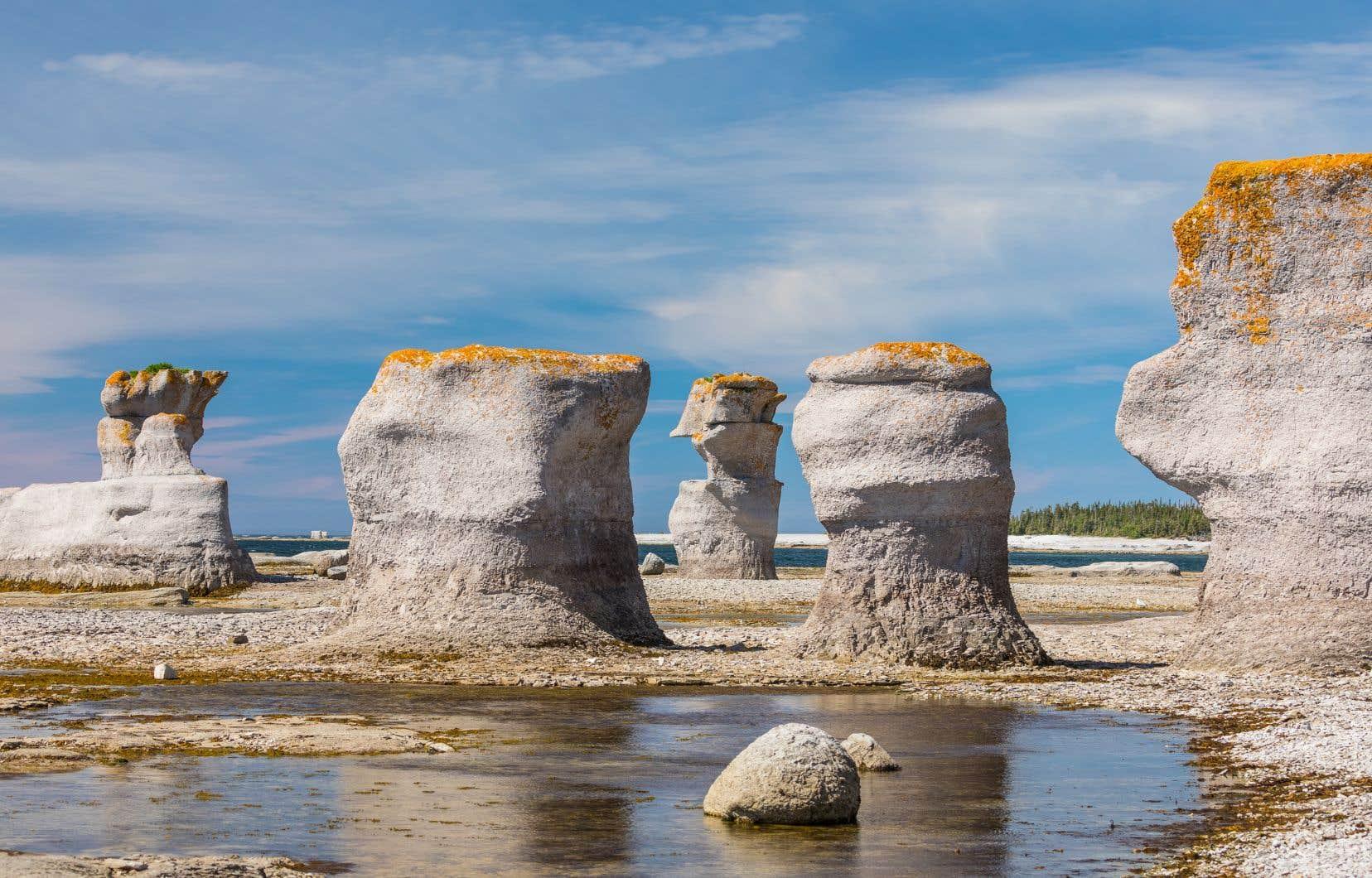Les géants de calcaire, dans le parc national de l'Archipel-de-Mingan