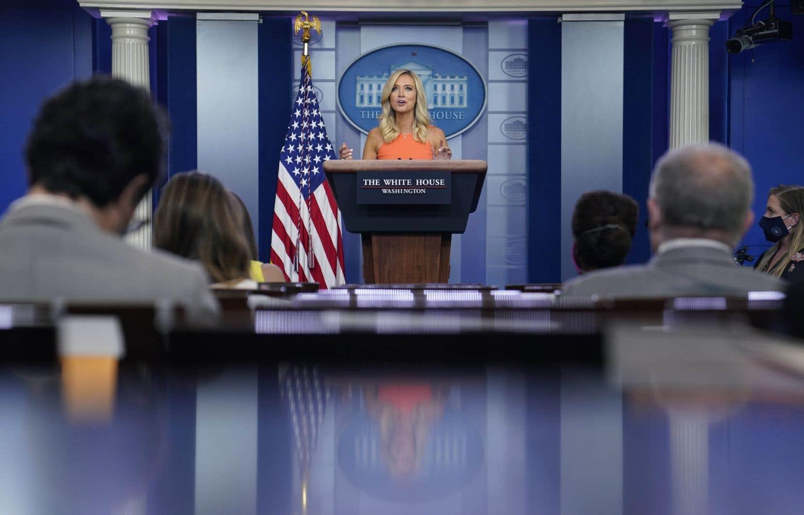 Kayleigh McEnany, porte-parole de la Maison-Blanche