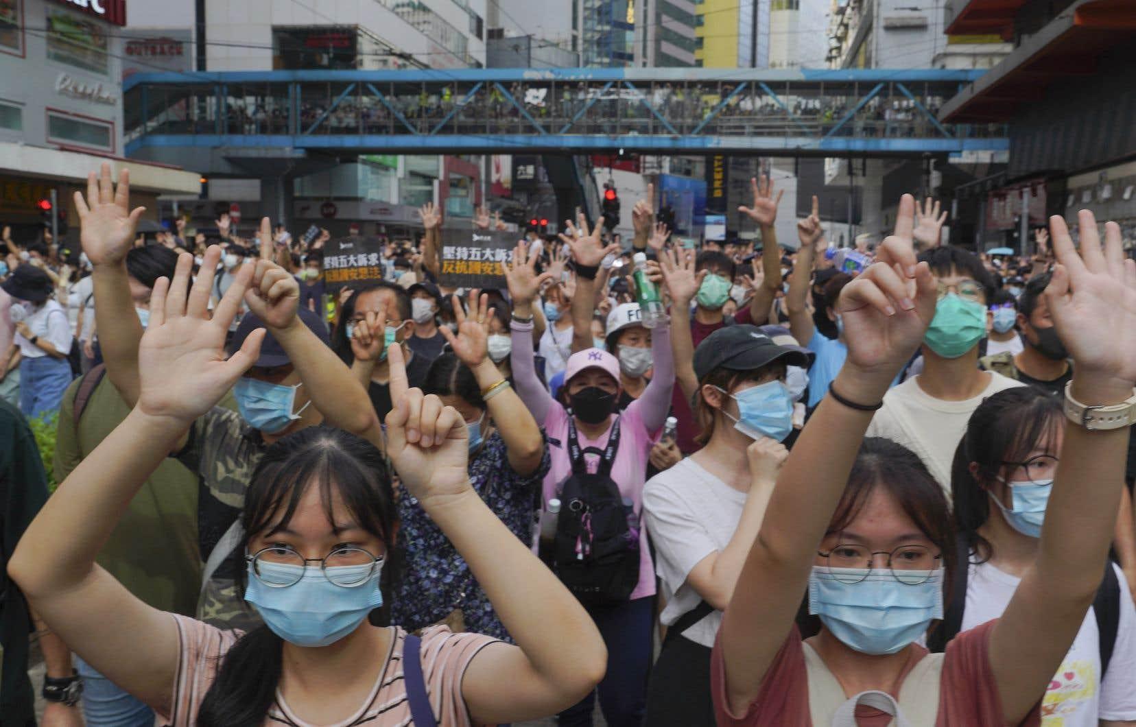 Les manifestations contre la loisur la sécurité nationale imposée par Pékin se multiplient à Hong Kong.