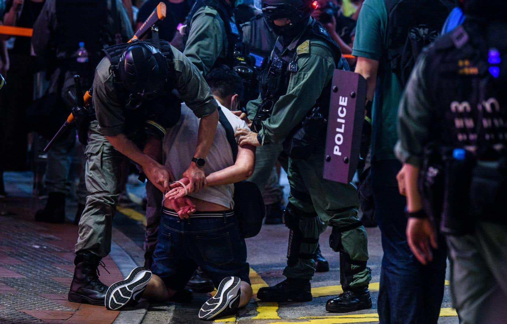 Plusieurs centaines de personnes ont été arrêtées ces derniers jours à Hong Kong.