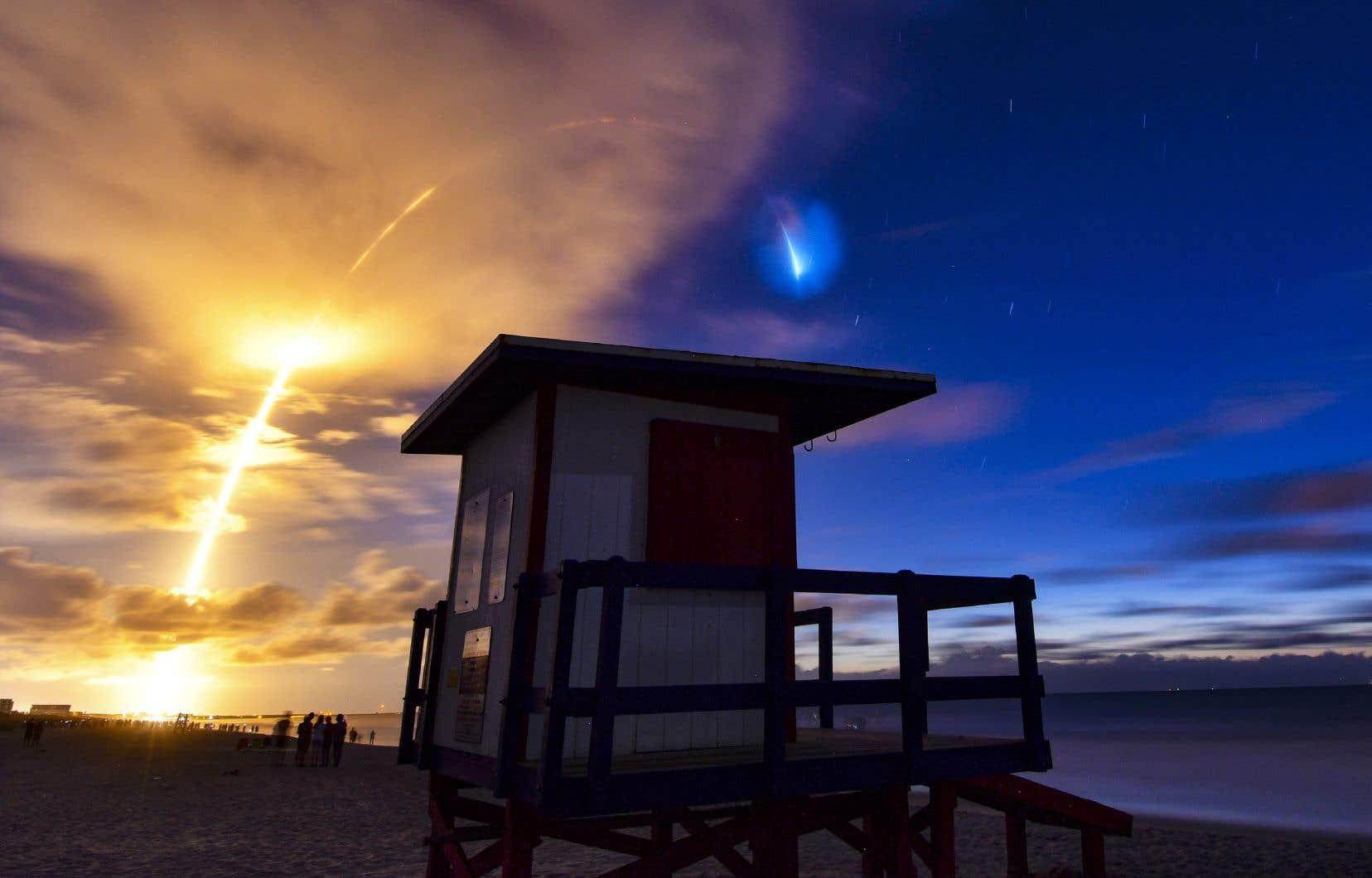 Lancement d'un neuvième lot de satellites de communication Starlink par SpaceX, le samedi 13 juin dernier.