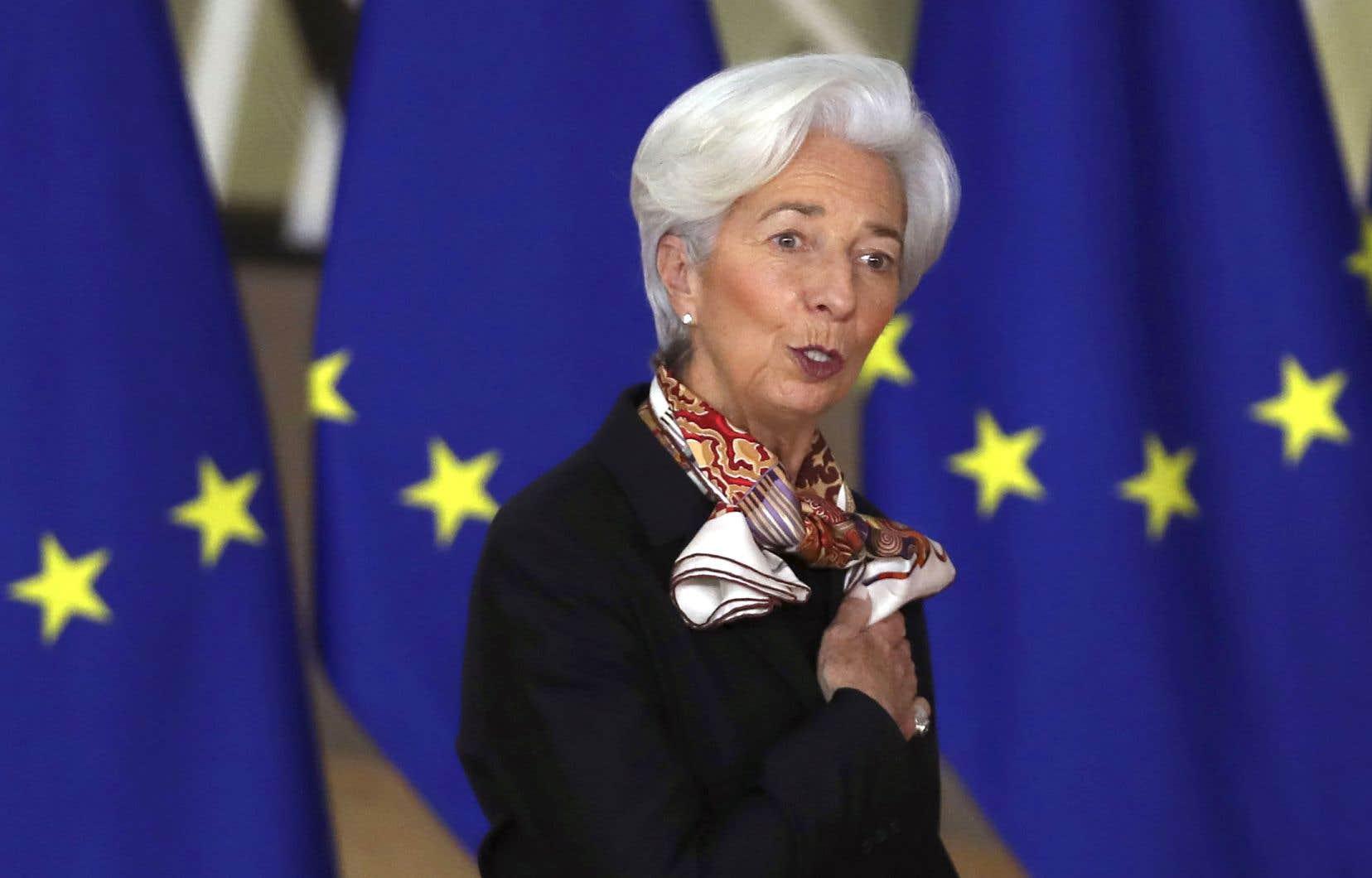 La présidente de la Banque centrale européenne, Christine Lagarde