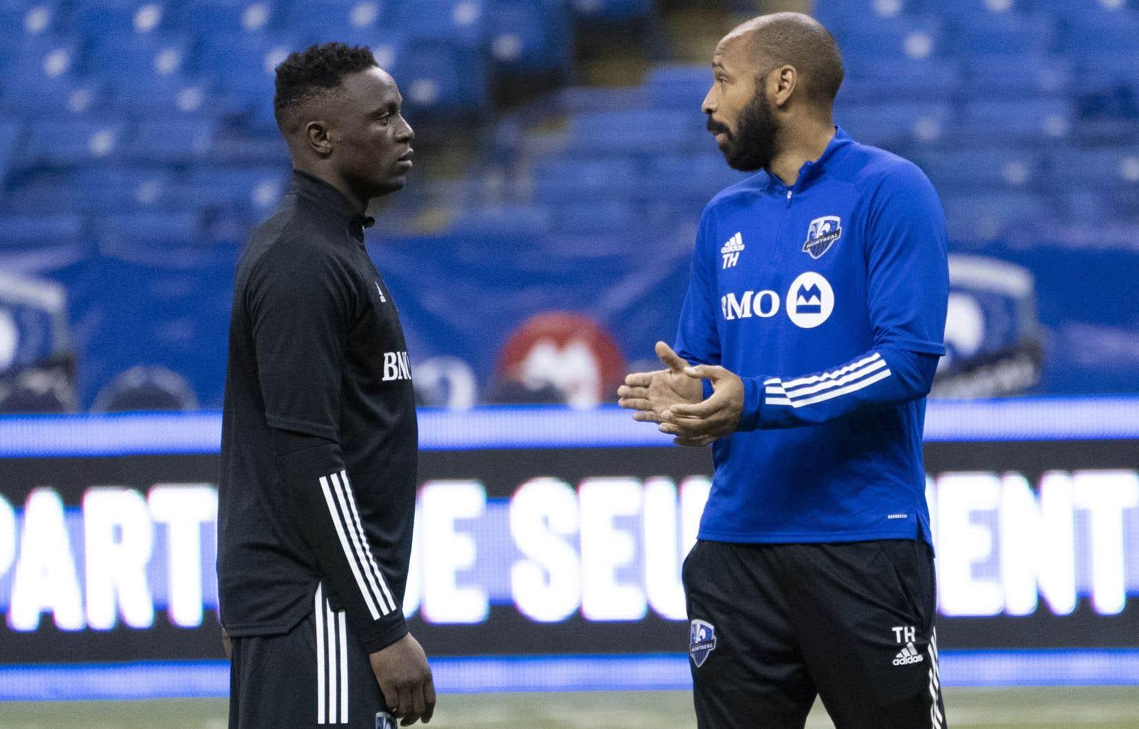 Victor Wanyama (à gauche) aura l'occasion de jouer son premier match officiel en MLS jeudi soir.