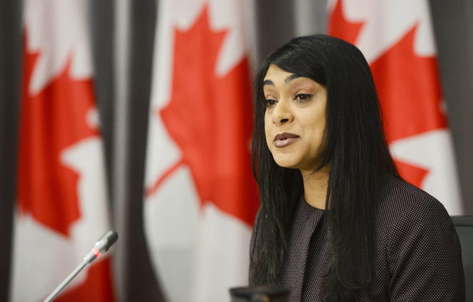 Bardish Chagger, ministre de la Jeunesse, a témoigné devant le Comité des finances de la Chambre des communes au sujet de l'entente avec UNIS portant sur la gestion d'un programme du gouvernement.
