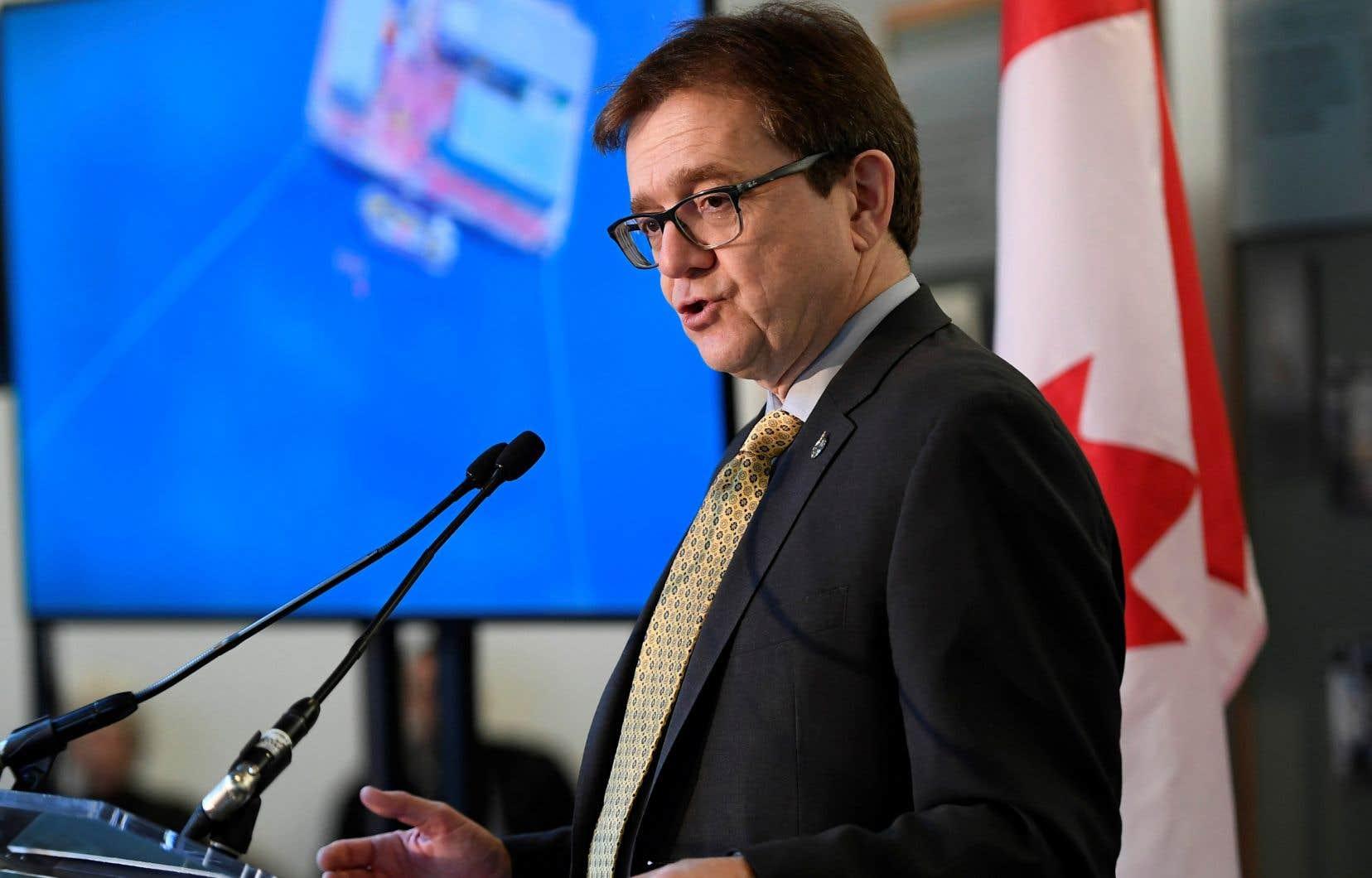 Le ministre fédéral de l'Environnement, Jonathan Wilkinson