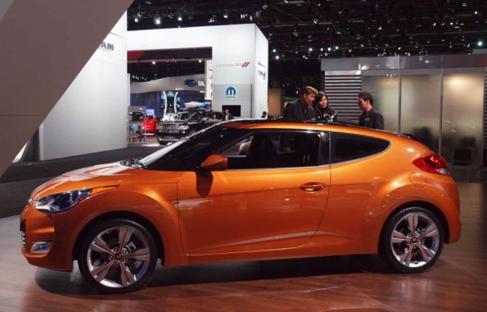 La Hyundai Veloster est un coupé asymétrique à quatre portes.