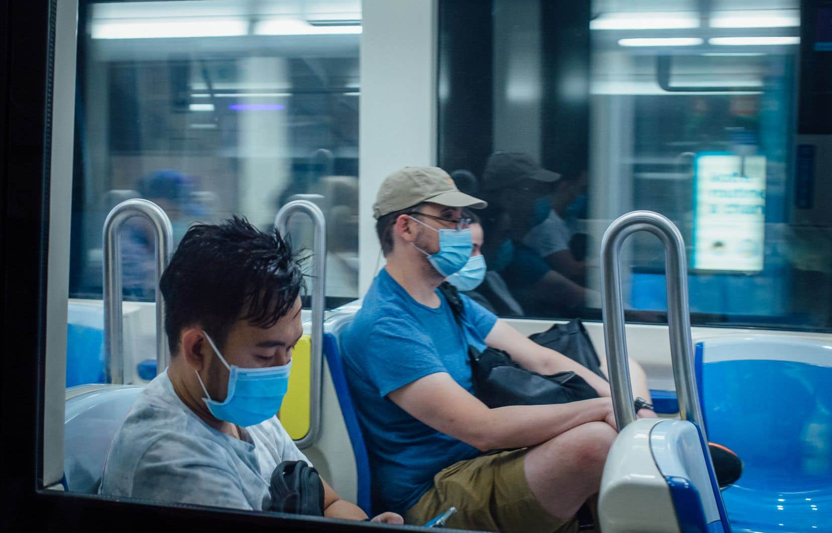 <p>La STM estime à 95% la proportion des usagers qui portaient le masque dans le métro mercredi, contre 86% lors de la semaine du 13 juillet qui marquait le début du port obligatoire du couvre-visage.</p>