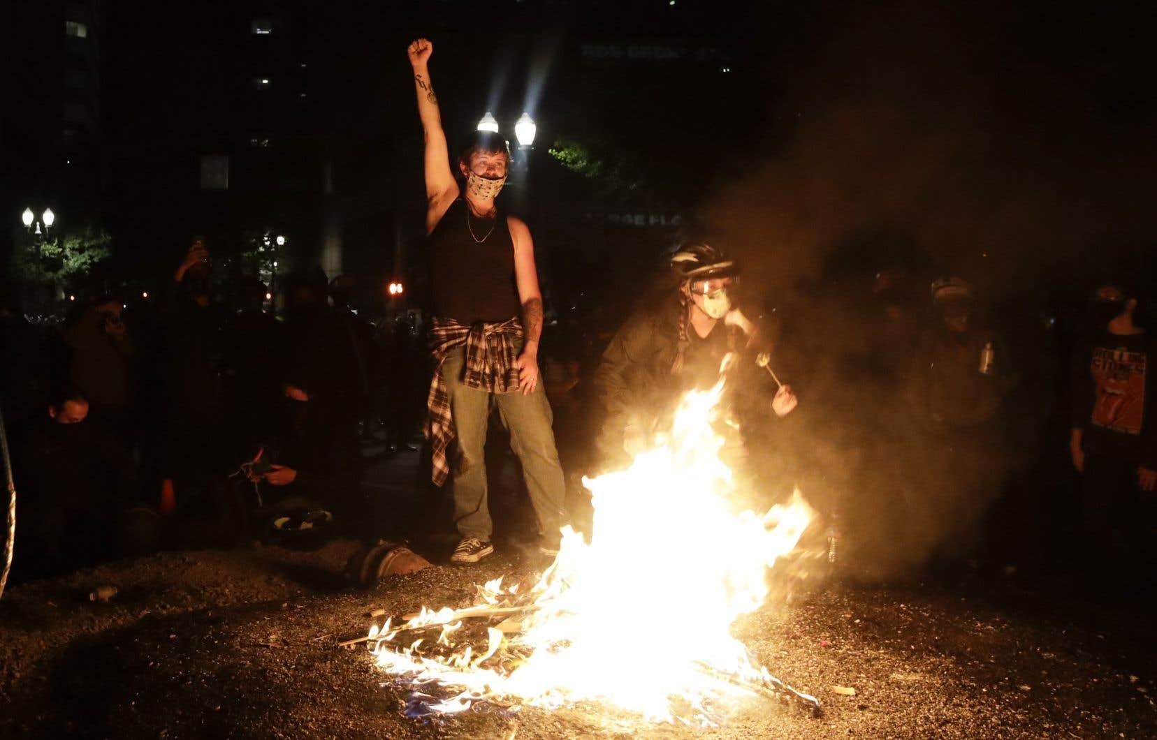 À Portland, les manifestations en étaient samedi soir à leur 59e journée.