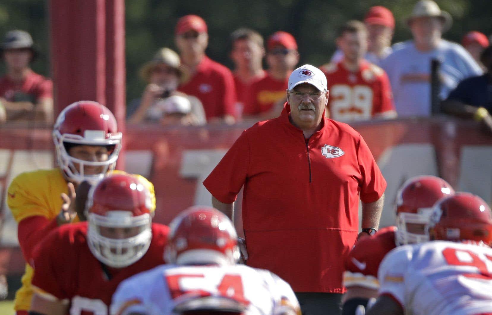 L'entraîneur-chef des Chiefs de Kansas City, Andy Reid