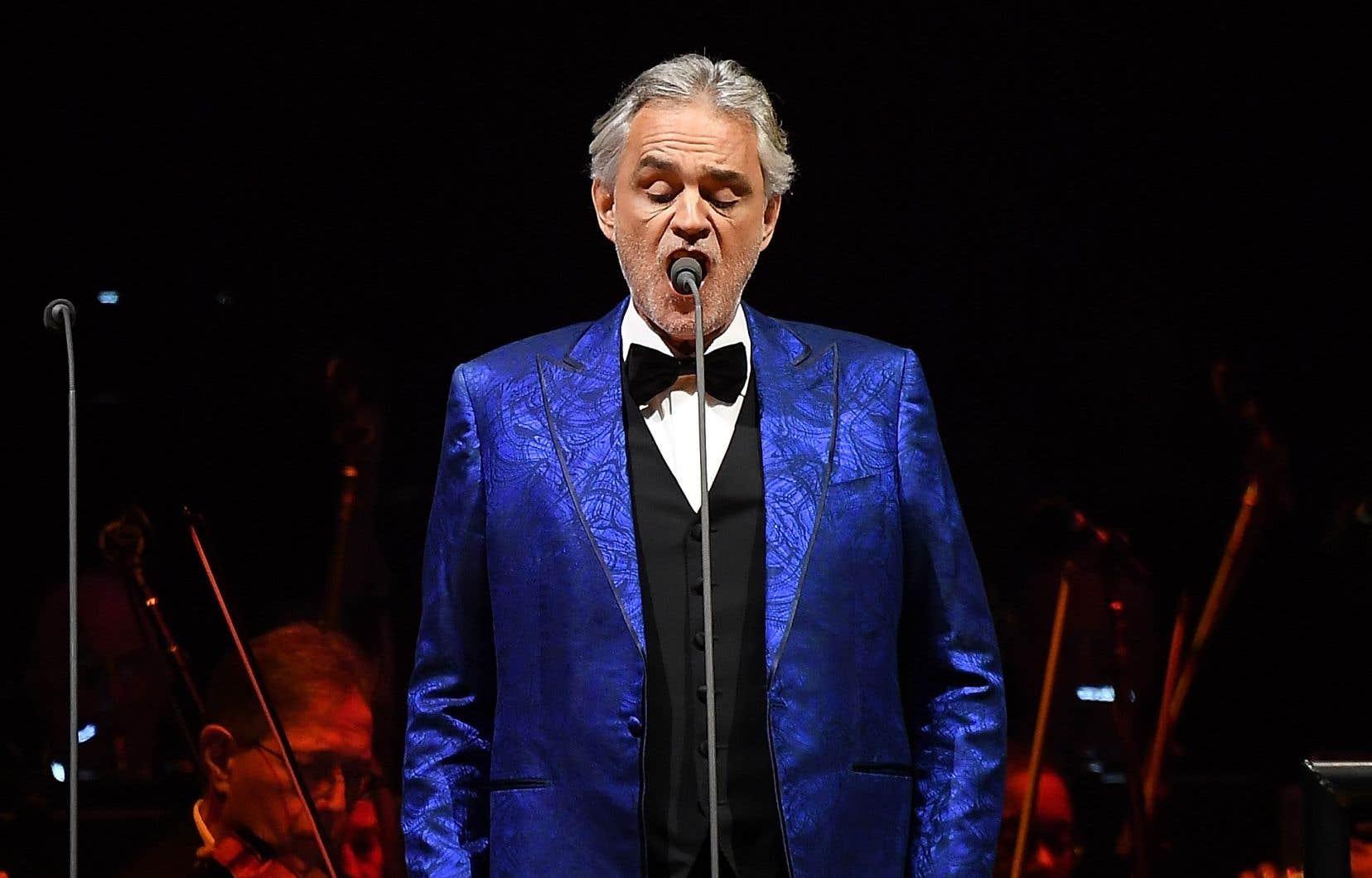 Le chanteur italien Andrea Bocelli en prestation à New York en décembre dernier
