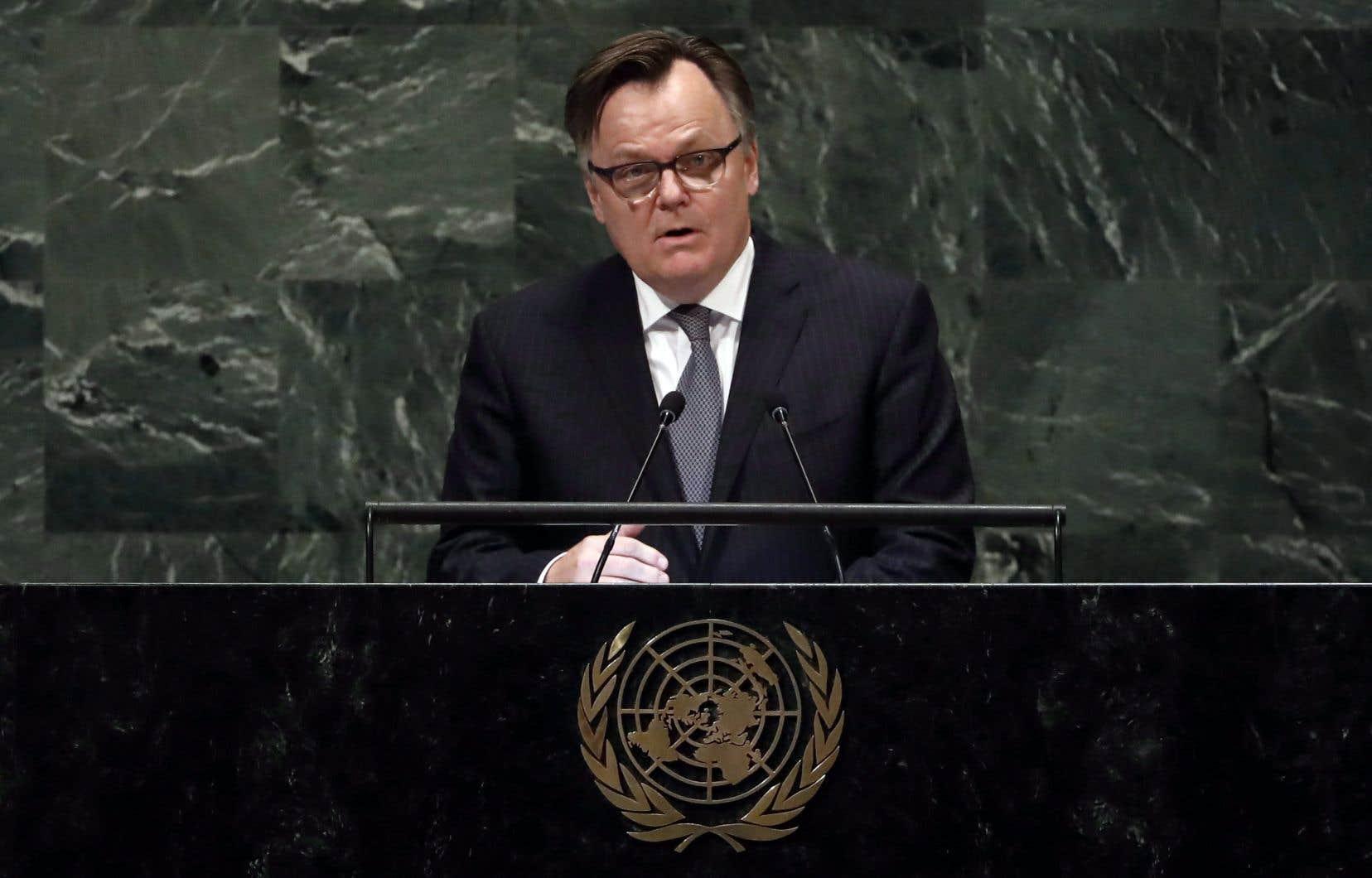 Marc-André Blanchard est ambassadeur aux Nations unies depuis 2016.