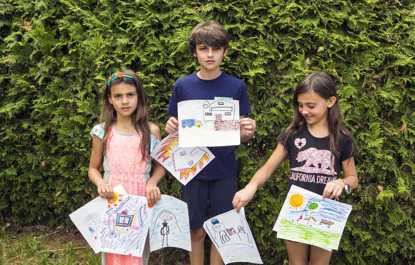 À quoi ressemble un monde sans optimisme? Adèle, 8 ans,Léon, 10 ans, et Marie Odile, 7 ans, l'ont imaginé dans le cadre d'un atelier de philocréation.