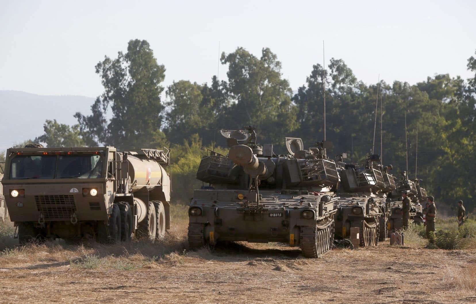 Dans l'optique d'une riposte du Hezbollah, l'armée israélienne est en état d'alerte accru le long de la frontière.