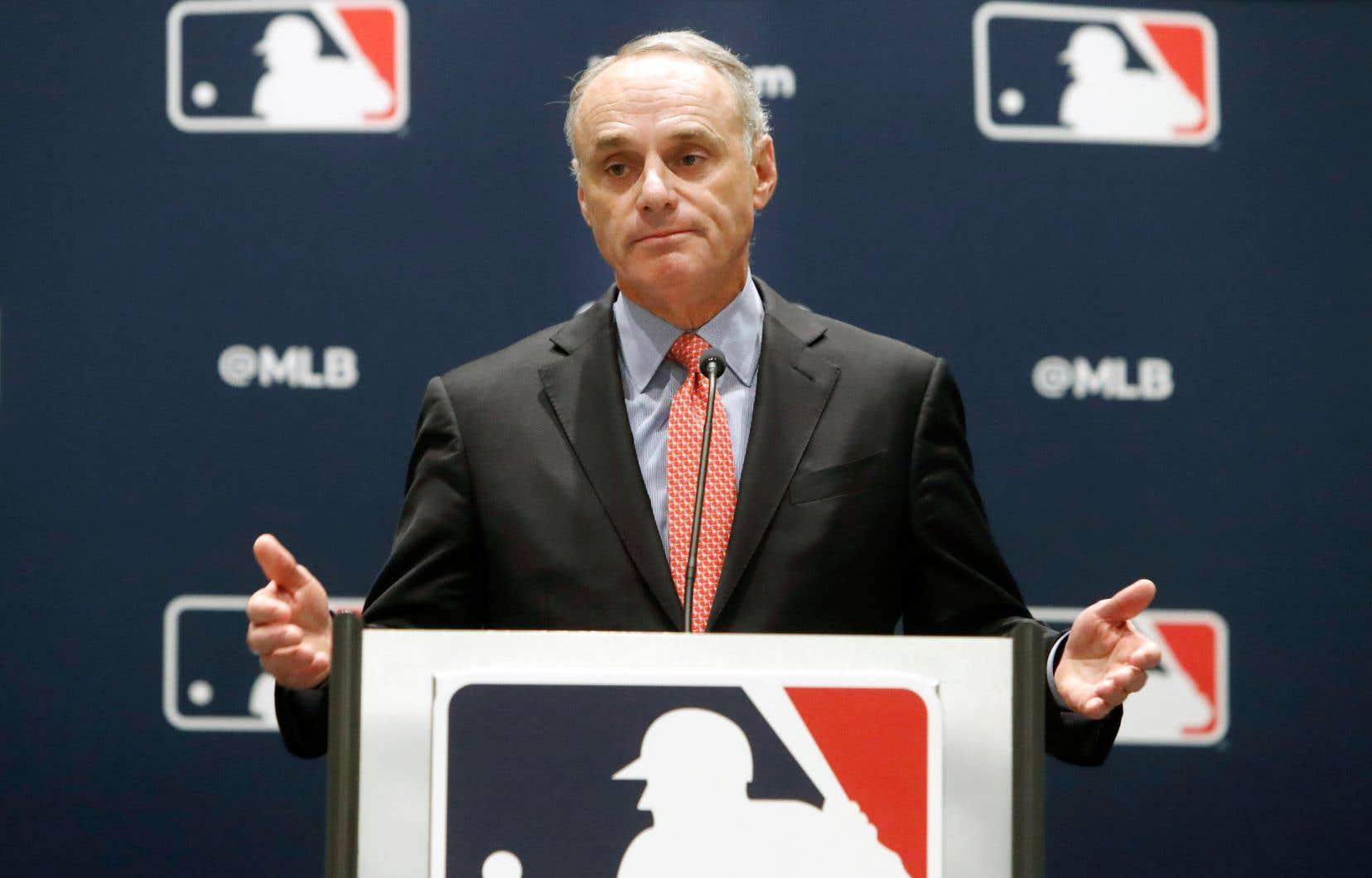 Le commissaire des Ligues majeures de baseball, Rob Manfred