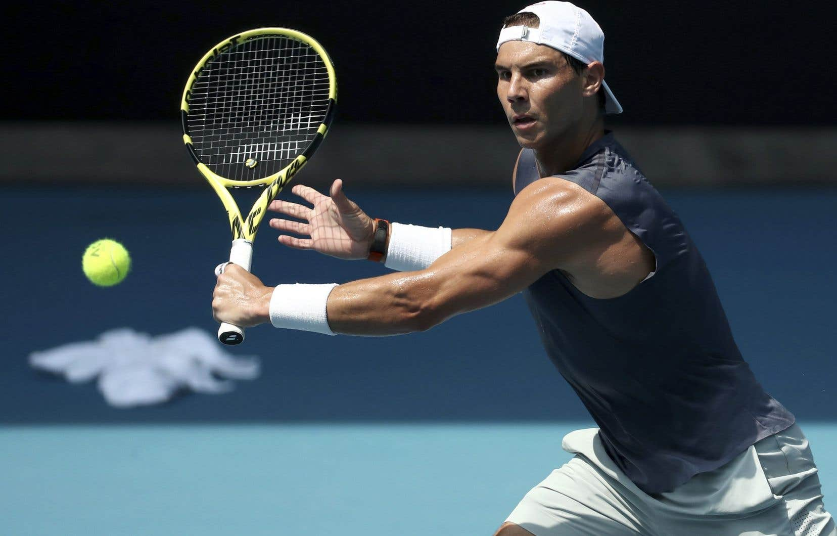 Le joueur de tennis espagnol Rafael Nadal lors des Internationaux d'Australie
