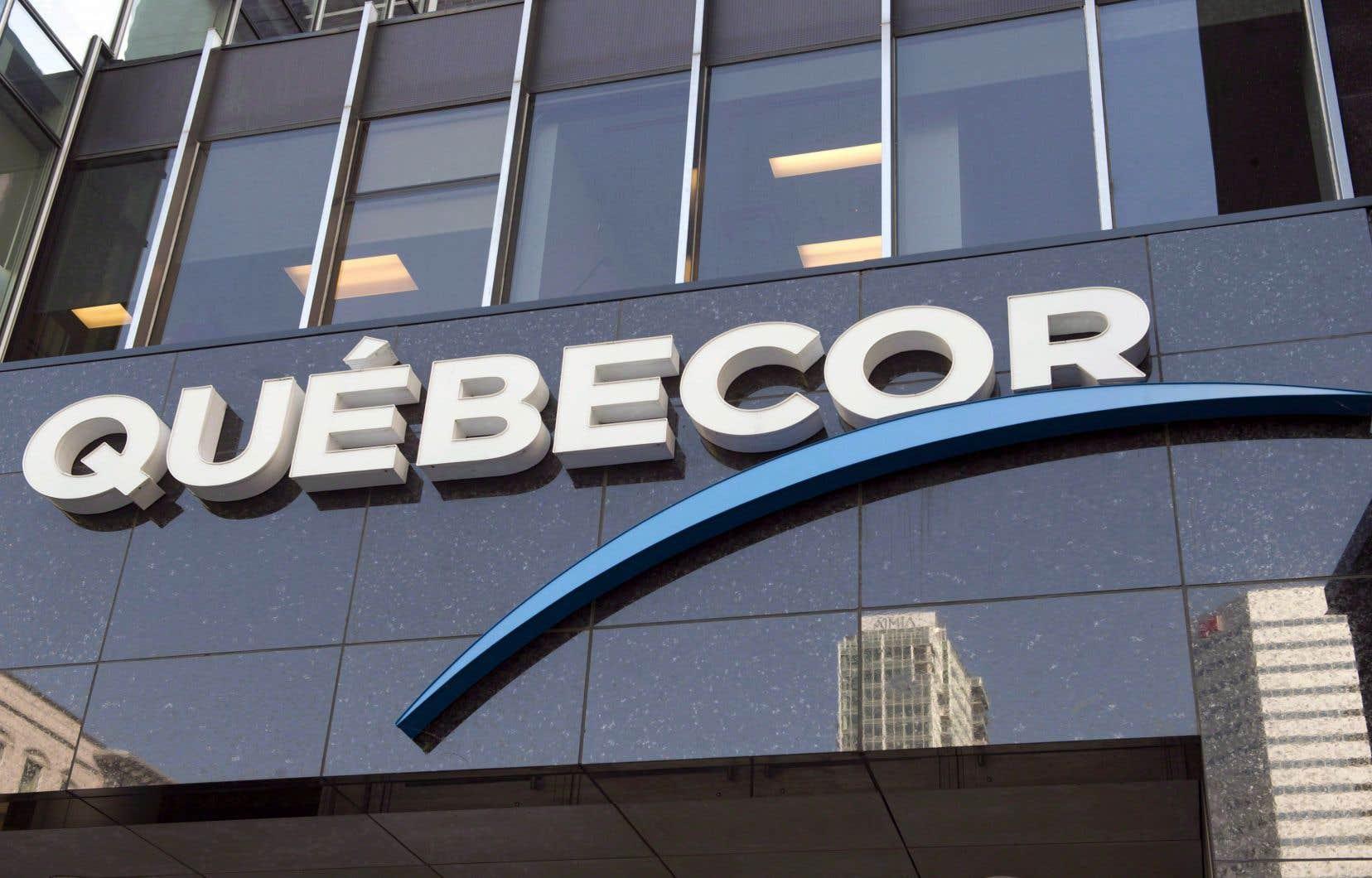 Québecor rapporte une baisse de revenus de 37% dans le secteur des sports.
