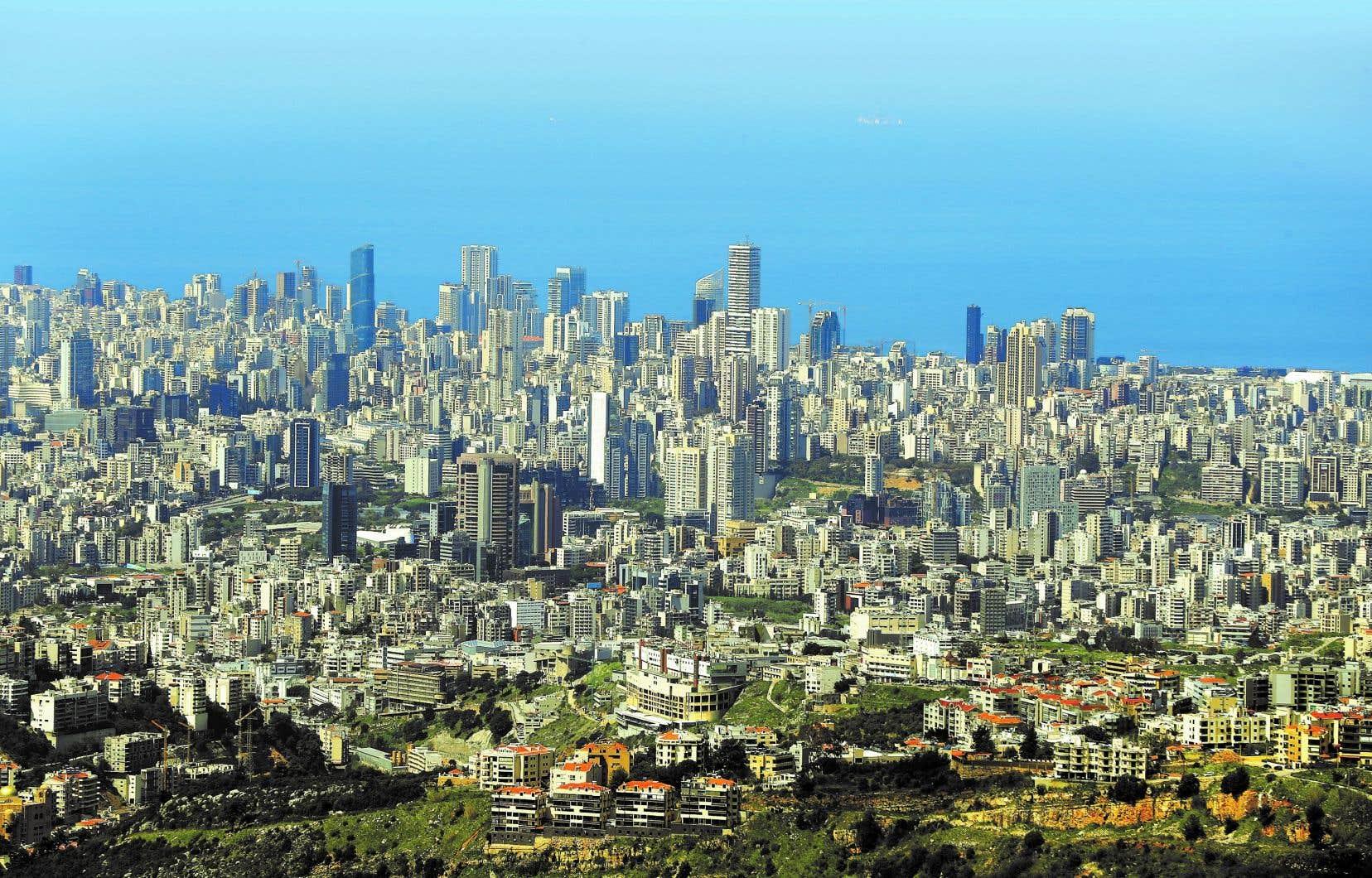 Une vue aérienne de Beyrouth avant l'explosion, en mars 2020