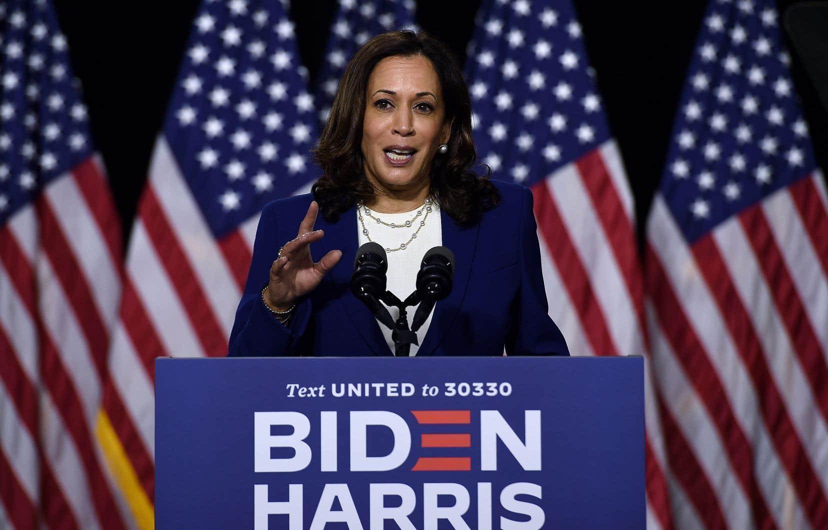 Lors de son premier discours comme colistière de Joe Biden, Kamala Harris, 55 ans, a tenu à souligner l'importance du scrutin de novembre.