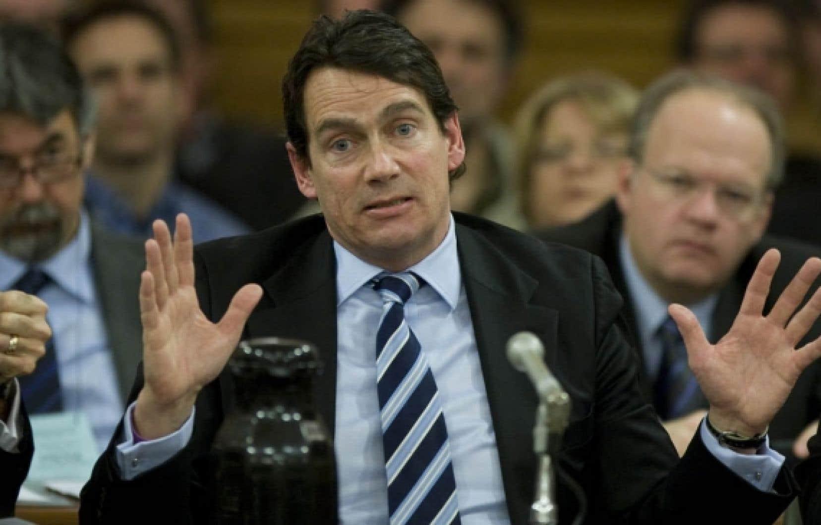 Pierre Karl Péladeau a comparu hier devant la Commission de l'économie et du travail, à Québec, qui se penche sur la «modernisation des dispositions antibriseurs de grève prévues au Code du travail».