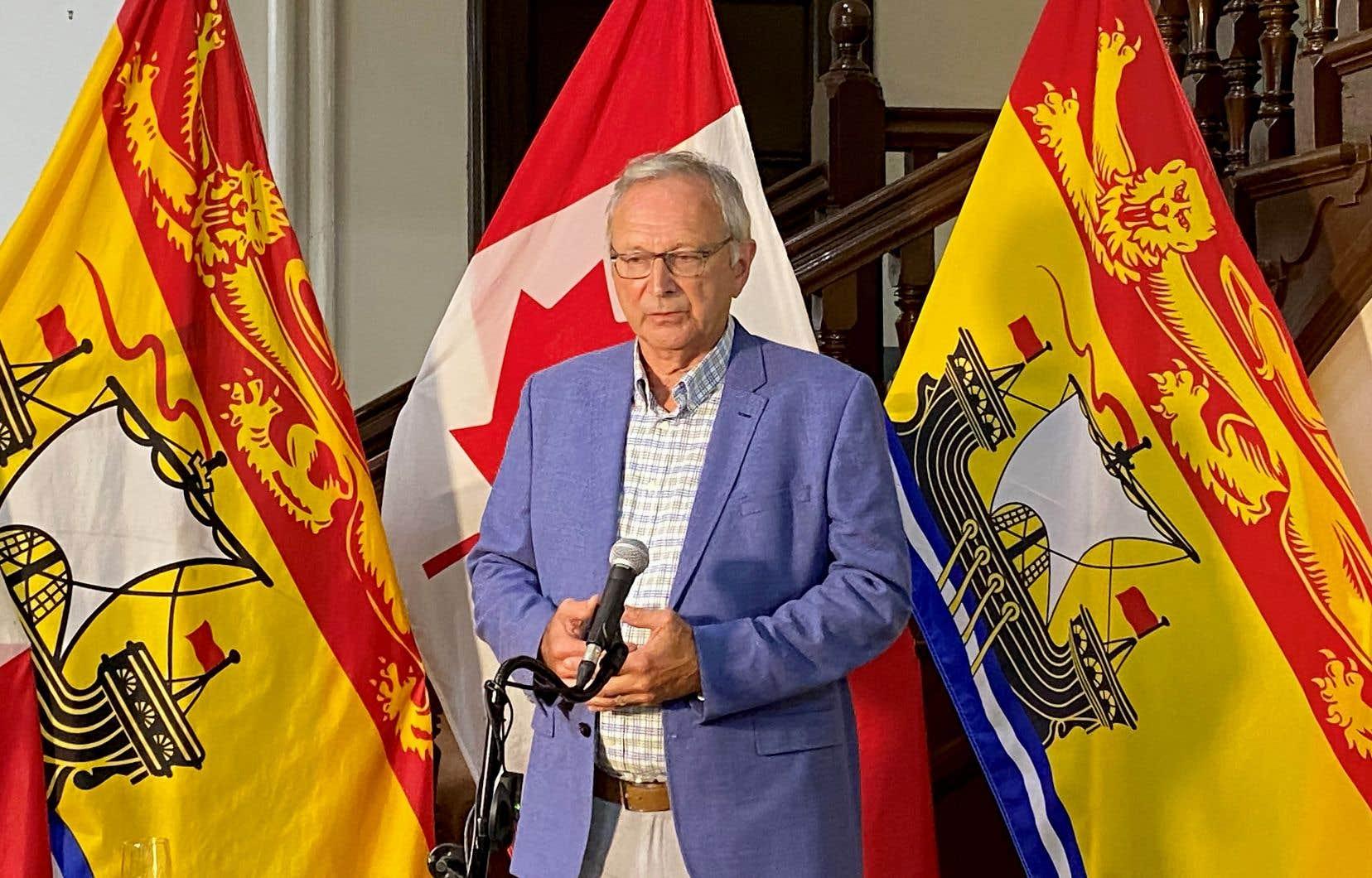 Le premier ministre du Nouveau-Brunswick, Blaine Higgs