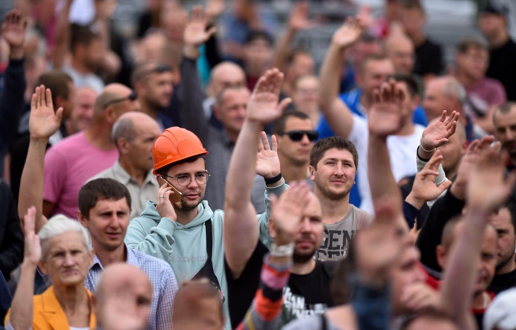 Les manifestations contre la réélection d'Alexandre Loukachenko se sont poursuivies pour une 11e journée consécutive.