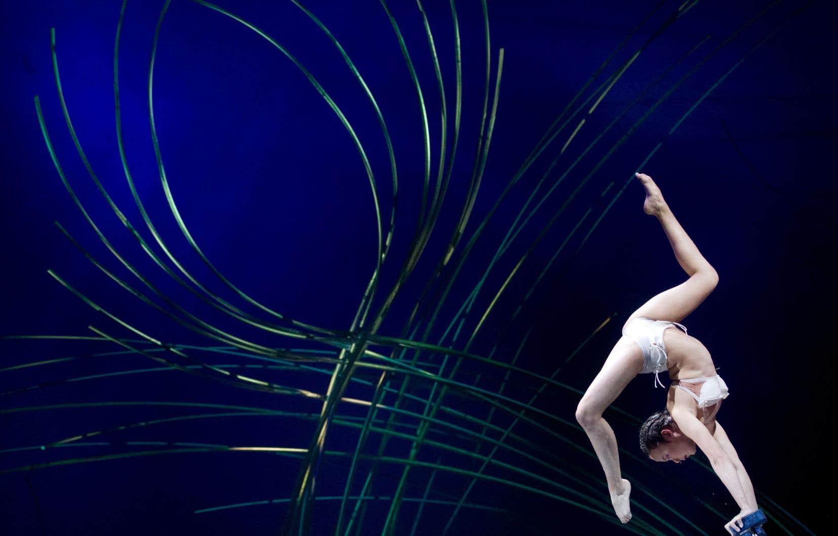 Extrait du spectacle «Amaluna» du Cirque du Soleil présenté en 2012