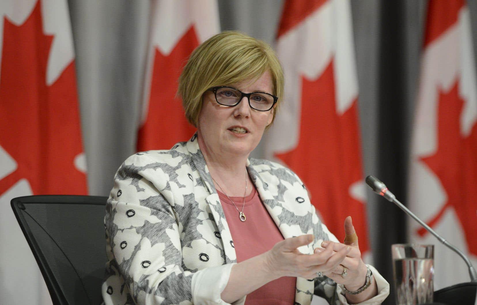 La ministre de l'Emploi, du Développement de la main-d'œuvre et de l'Inclusion des personnes handicapées,Carla Qualtrough