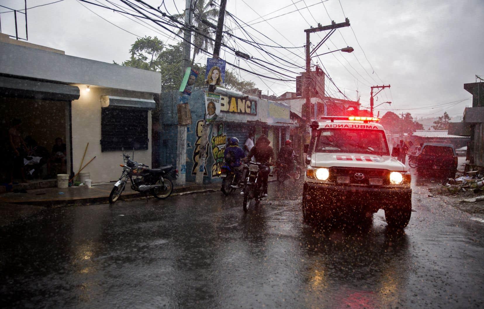 La tempête a provoqué des inondations et privé d'électricité plus d'un million de personnes en République dominicaine.