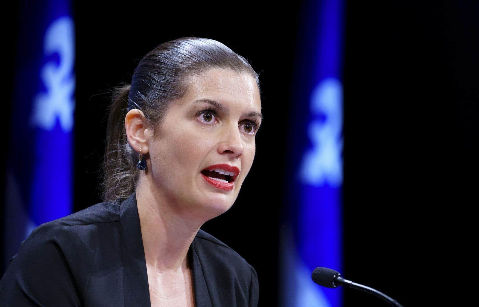 La vice-première ministre, Geneviève Guilbault