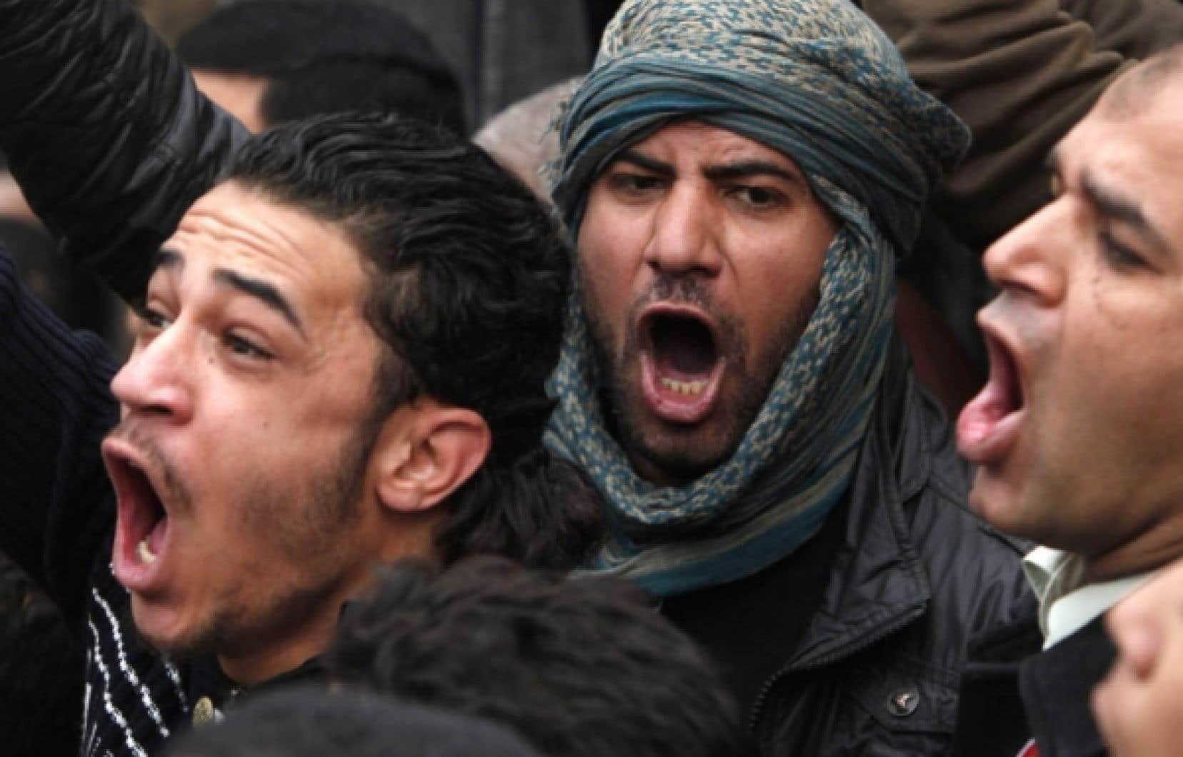 Des manifestants hier, à Alexandrie