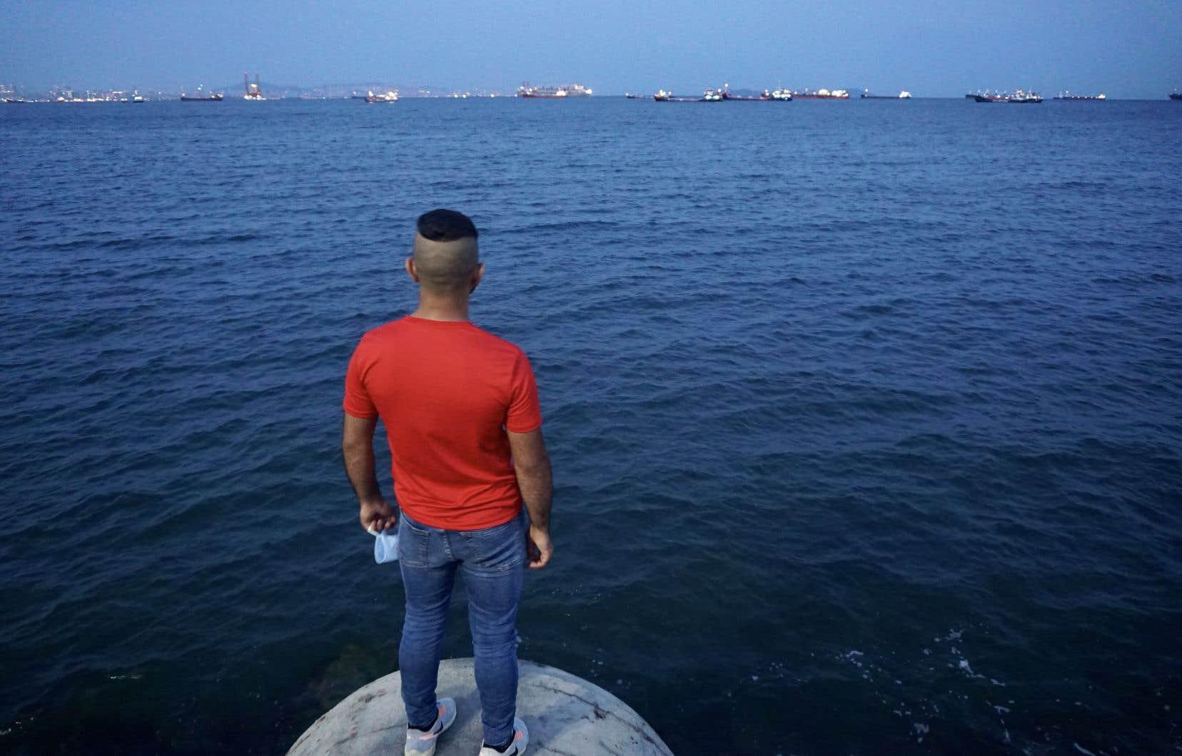 Abdoul face à la mer de Marmara