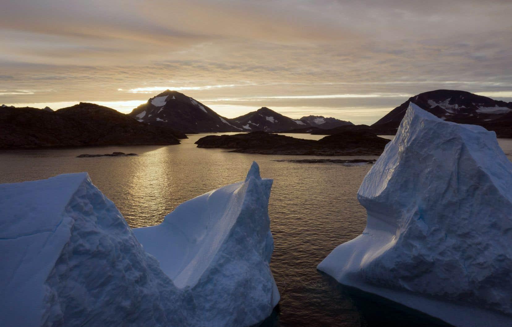 De nombreux lacs dits «proglaciaires» se sont formés dans la région du Groenland.