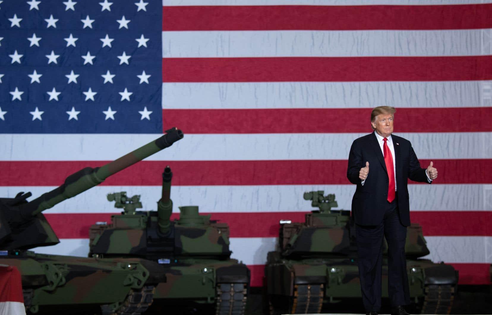 M.Trump dit souvent jouir d'un fort soutien au sein de l'armée, vantant par exemple l'augmentation des fonds alloués au Pentagone.