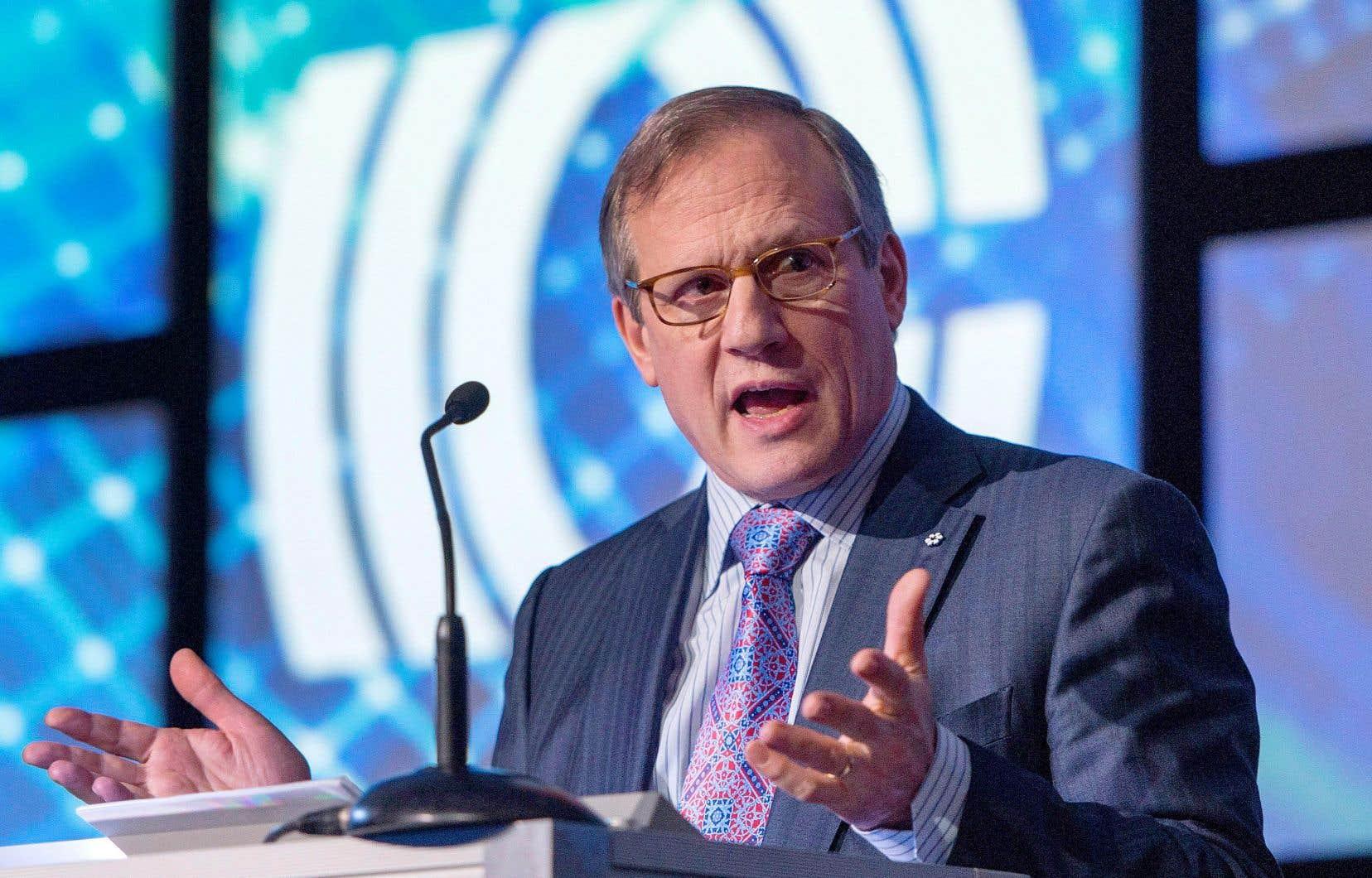 Louis Audet, président exécutif du conseil d'administration de Cogeco Communications. Connue pour son réseau de câblodistribution, l'entreprise est également présente dans la téléphonie sans fil et l'accès Internet, et elle détient 23 stations de radio au Québec.