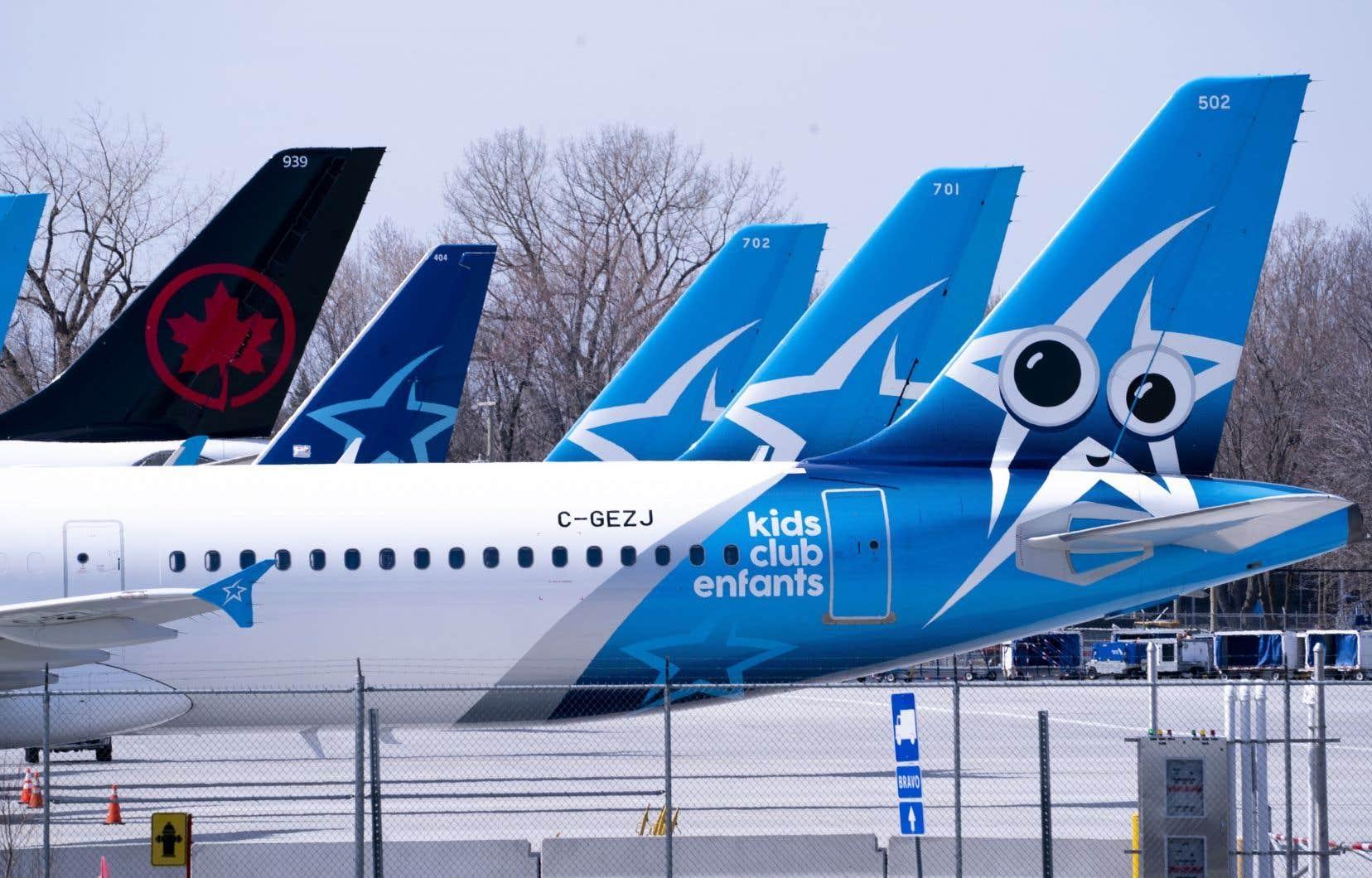 La paralysie de l'aviation commerciale provoquée par le nouveau coronavirus a incité Air Transat à clouer ses avions au sol entre le 1eravril et le 22juillet.