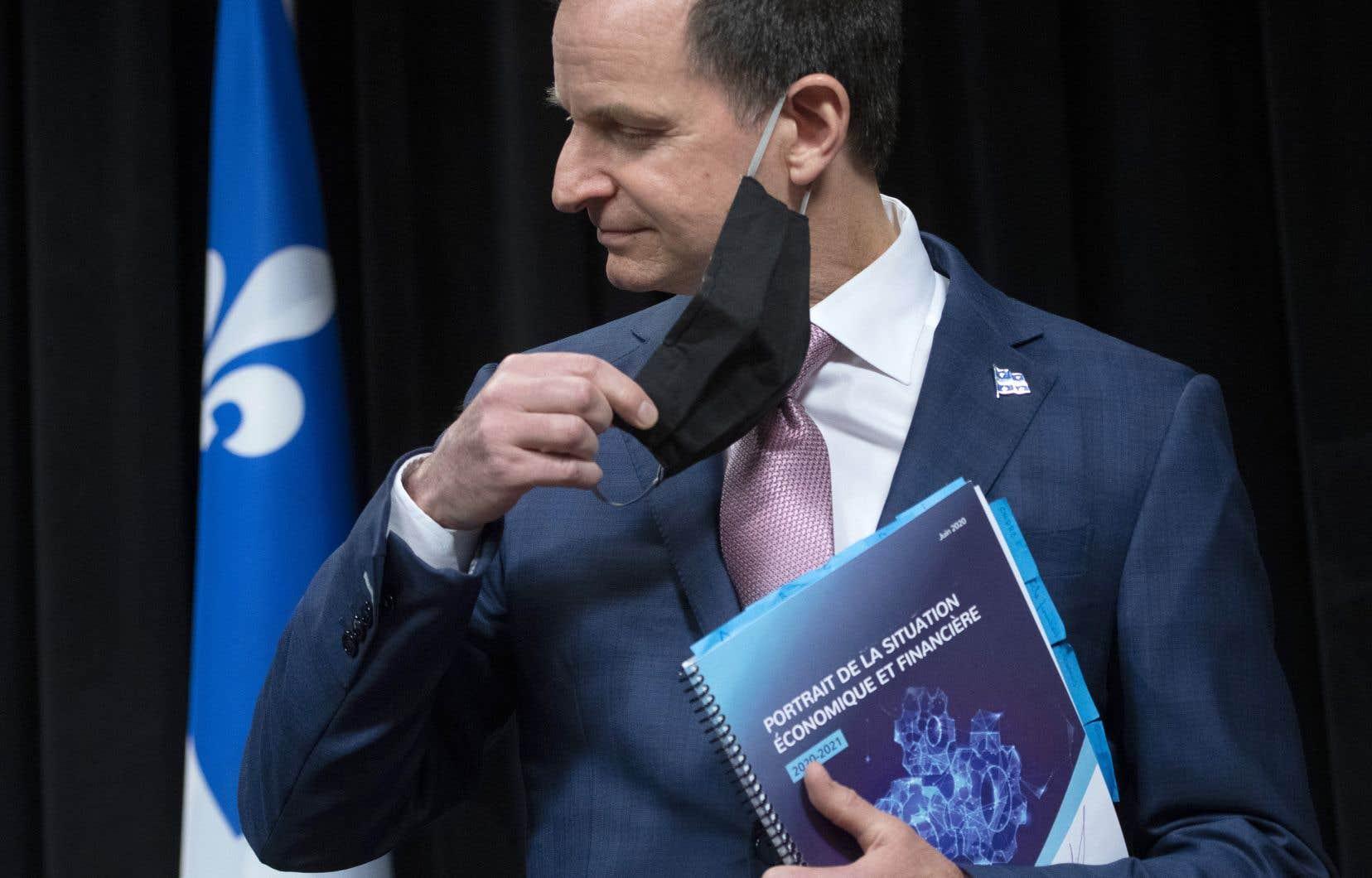 Le ministre québécois des Finances, Eric Girard, a présenté une mise à jour économique, en juin, en raison du ralentissement de l'économie causé par la pandémie.