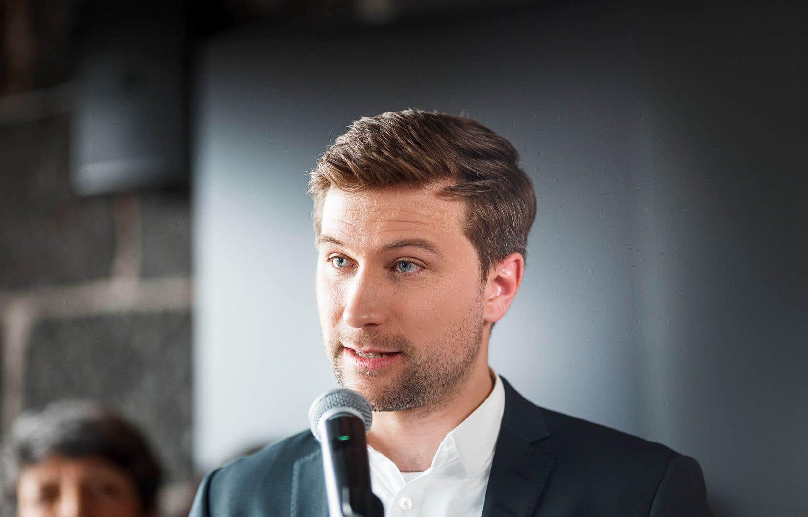 Le co-porte-parole de Québec solidaire, Gabriel Nadeau-Dubois